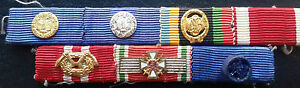 ✚7384✚ German ribbon bar post WW2 1957 pattern Service Medal Hungarian Cross DSB