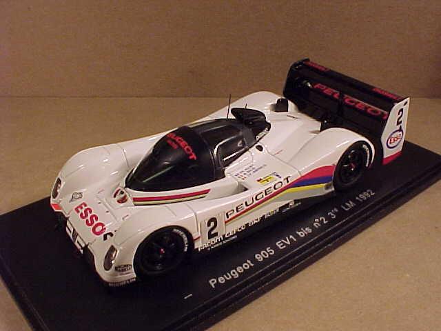 hasta un 50% de descuento Spark 1 43 Peugeot 905 Ev1 Bis , 3ª 1992 1992 1992 Lemans, Esso  2 , Baldi Et Al  S2595  exclusivo