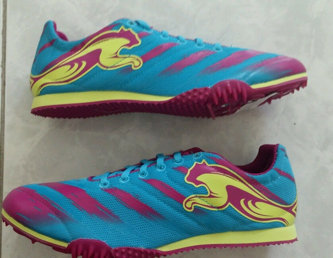 Puma TFX Star V2 Bleu Atoll/Magenta Running Spikes Chaussures,
