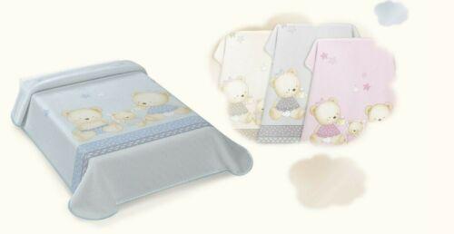 Babies Boys Girls Printed Cot Pram Warm Winter Soft Feel Cosy Spain Blanket Gift