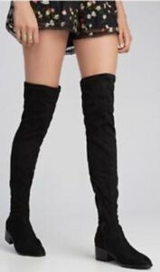 322c1e591a1 Details about STEVE MADDEN GABRIANA BLACK OVER THE KNEE BOOT SZ 5.5