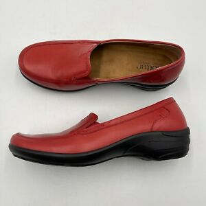 Hotter Envy Loafer Women's Size 7 Red Leather Comfort Concept