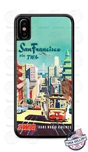 Vintage-San-Francisco-TWA-Airlines-Phone-Case-Cover-For-iPhone-Samsung-LG-etc
