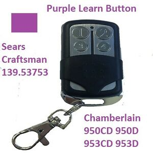 Craftsman Garage Door Opener Visor Remote Control Red Purple Green Learn Button