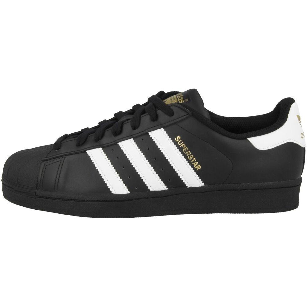 Adidas superstar Foundation Chaussures rétro classique sneaker noir blanc b27140-