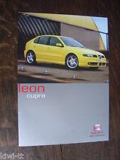 Seat Leon Cupra Prospekt / Depliant / Brochure, GB, 1.2001
