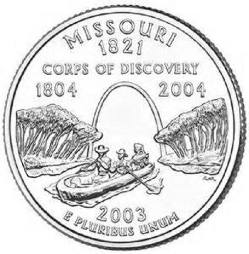 D  Missouri   State Quarter  **BRILLIANT UNCIRCULATED** 2003