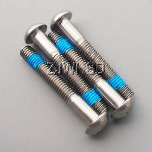 4pcs M6 x 10 Titanium Ti Screw Bolt Allen hex Socket Button head ThreadLocker