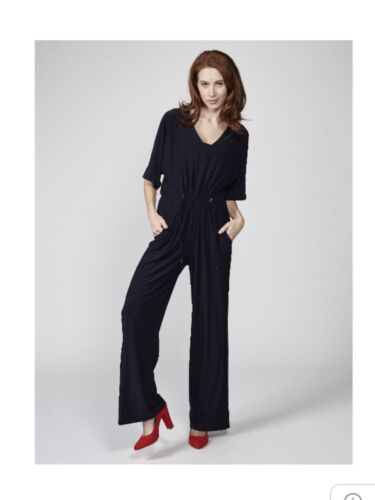 NEW QVC RONNI NICOLE Jumpsuit Navy or Black Choice of Size