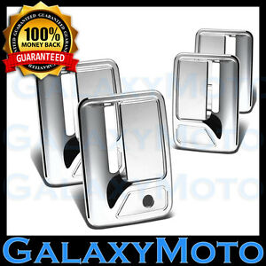 99-16 Ford Super Duty F250+F350+F450 Chrome 4 Door Handle w// PSG keyhole Cover