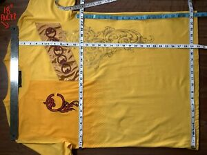 """COOGI Graphic T-Shirt Yellow Gold (Tagged XL) 44"""" Chest / 30"""" Length Teen? Mens?"""
