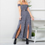 Women-039-s-Summer-Casual-Off-Shoulder-Floral-Long-Slits-Maxi-Dress-Beach-Sundress thumbnail 5