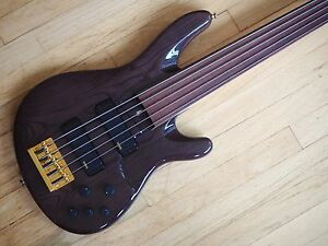 1997 yamaha trb 5f fretless 5 string active electric bass guitar lined w case ebay. Black Bedroom Furniture Sets. Home Design Ideas
