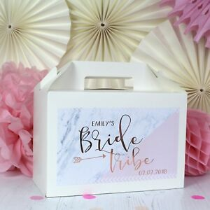 Image Is Loading Personalised Hen Party Gift Box Bride Tribe Rose