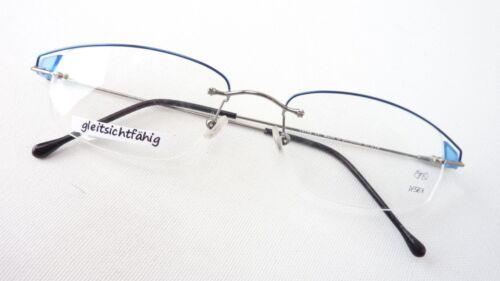 blu montatura M senza Occhiale vista Damen molla da Telaio Think cinturino leggero con Marca a parziale Gr qaIxIYXn