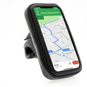 Wasserfeste-Handyhalterung-Fahrrad-Motorrad-Universal-fuer-Smartphone-bis-14x7cm