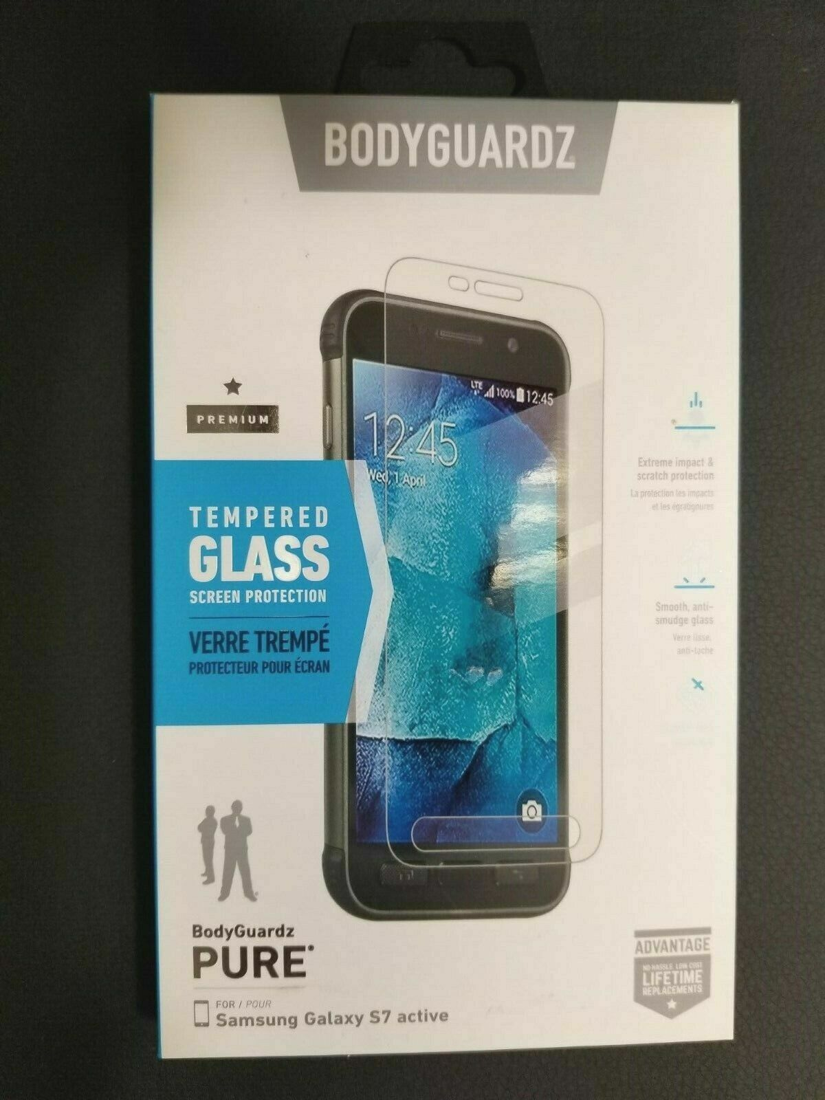 Samsung Galaxy S7 Active Bodyguardz Pure Tempered Glass Screen Protector For Sale Online Ebay