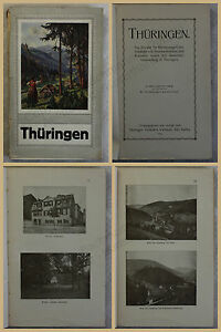 Orig-Werbeprospekt-Thueringen-1916-Landeskunde-Kurorten-Ortskunde-Reise-xy