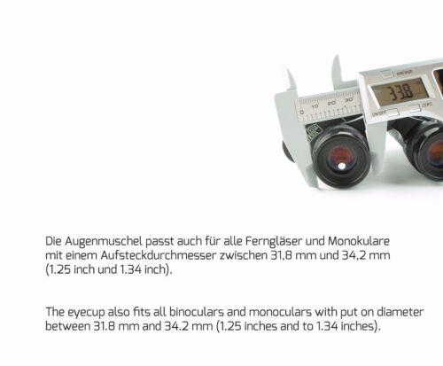 rub1# 2x augenmuschel para Carl Zeiss Jena silvarem silvamar 6x30-Rubber