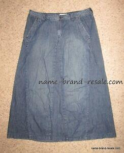 55f87bfea LANE BRYANT Womens PLUS 14 1X Long Denim Skirt Flare Jean A-Line ...