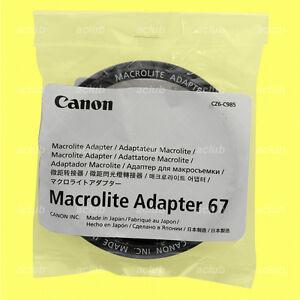 Genuine-Canon-Macrolite-Adapter-Ring-67-for-MR-14EX-MR-14EX-II-MT-24EX-ML-3