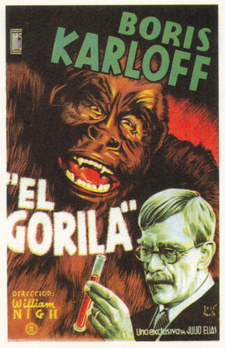 1940 Boris Karloff Horror movie poster print 2 The Ape