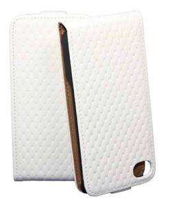 Diamond-Flip-Tasche-fuer-Apple-iPhone-4-4S-in-weiss-Schutzhuelle-Etui-Case-Bag