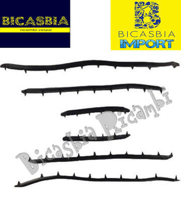 11074 - Import Serie Kit Strisce Pedana In Sola Gomma Vespa 50 R L N Bicasbia Materiali Superiori
