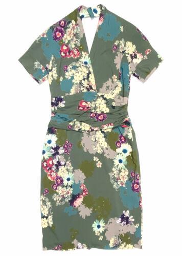 ETRO Womens 46 $1860 Floral Print Silk Dress Midi