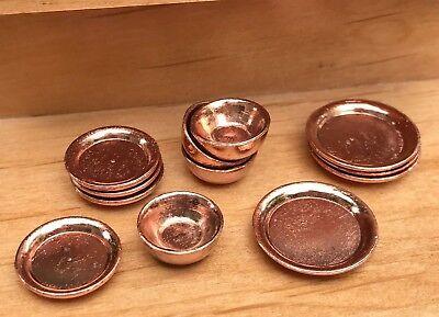 Miniature Dollhouse FAIRY GARDEN Accessories  4 Antique Style Gold Color Goblets