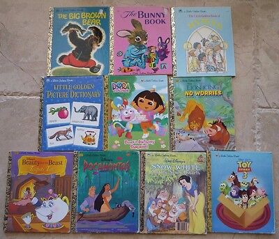 100% Kwaliteit Lot Of 10 Little Golden Books Vintage Classic, Disney, Religious, Brown Bear Guc