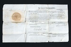 1823-Commission-Lt-Joseph-Currier-7th-Reg-New-Hampshire-Militia-Gov-Bell