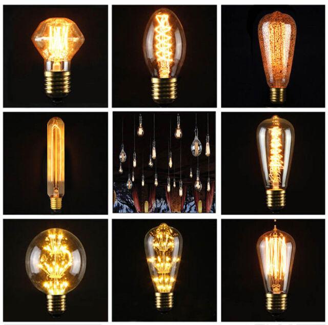 E27 3W 40W 220V Lampe Edison Industrielle Vintage Retro Filament Ampoule