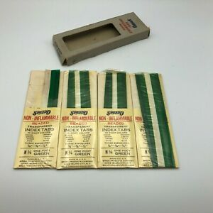 Vintage SPEEDO N1/4 Green Non-Inflammable Beaded Index Tabs Partial Box Y4
