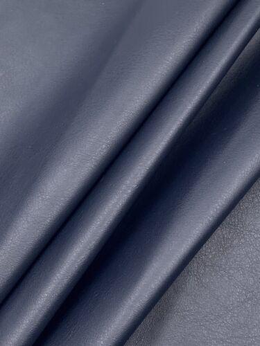 Cuero de imitación de tela piel sintética elástica azul oscuro a partir de 50 cm