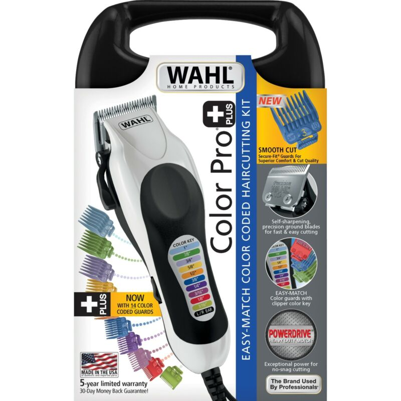 WAHL PROFESSIONAL CLIPPERS Trimmer HOME HAIR CUTTING KIT Tool Color Pro Men