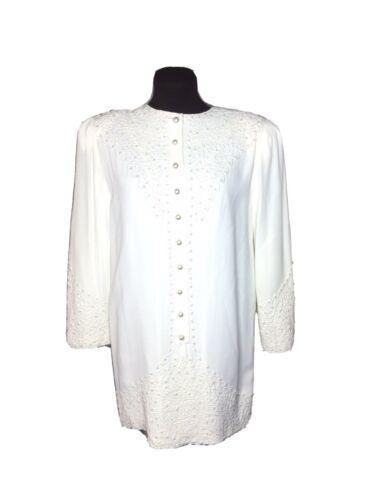 Marie St Claire dress blouse Vintage Sz 6 Pearl B… - image 1