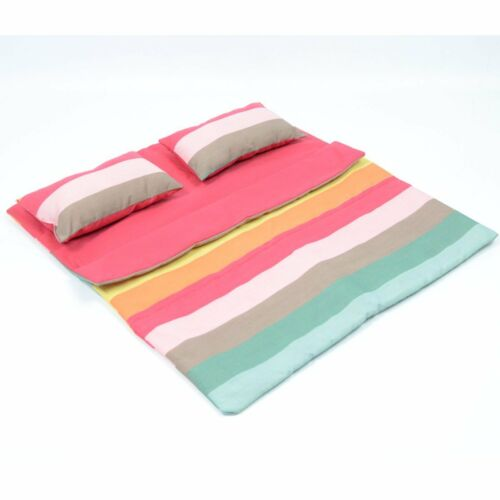 """Doll Bedding Striped Pattern Reversible Twin Doll Sleepover Bag for 18/"""" Dolls"""