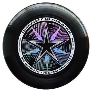 NG - Discraft Ultra Star Ultimate Frisbee Wurfscheibe 175g SCHWARZ