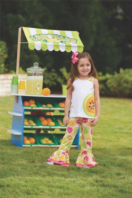 Mud Pie Baby Girls Tutti Frutti Collection Citrus Tank Top Pants Set 1132127 New