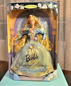 new  1997 gorgeous barbie as sleeping beauty doll mint