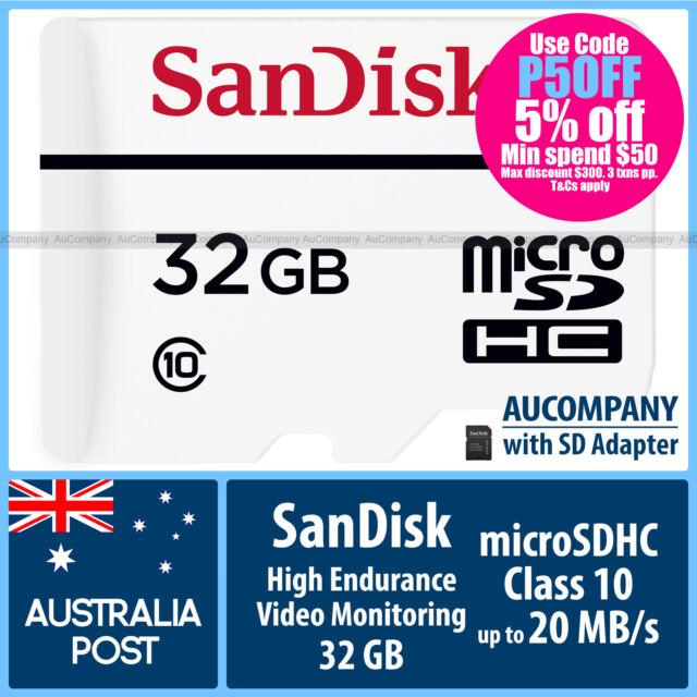 SanDisk High Endurance 32 GB 32G Micro SD SDHC Class 10 Memory Card TF Dash Cam