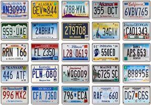 FRIDGE-MAGNET-License-Plates-Various-Design-US-States-American-licence