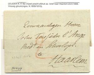 NEDERLAND-BRIEF-1806-LEYDEN-NAAR-HAARLEM