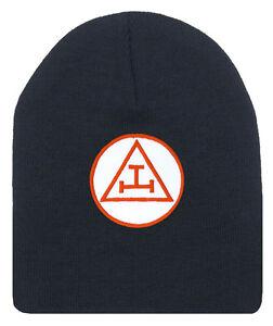 f0698338 Royal Arch Masonic Beanie Cap. Black Winter Hat Triple Tau Royal ...