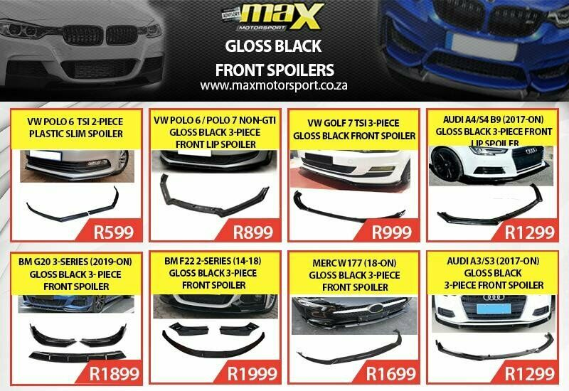 EXCLUSIVE RANGE OF GLOSS BLACK FRONT SPOILERS