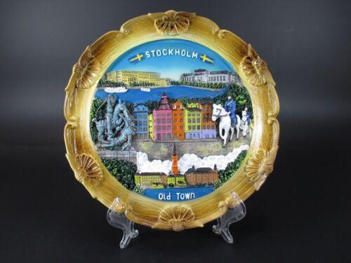 Schweden Stockholm Poly Teller Plate mit Wappen 19cm Souvenir