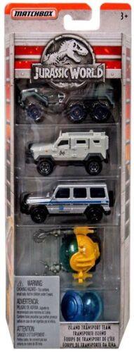 styles peuvent varier MATCHBOX Jurassic World Fallen Kingdom Diecast 5 Pack véhicule