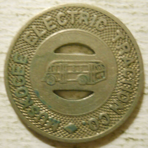 OK590C Oklahoma transit token Muskogee Electric Traction Company