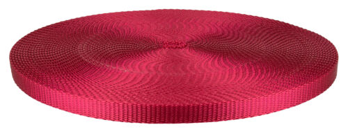20 Yards 3//8 Inch Red Heavy Plus Nylon Webbing Closeout